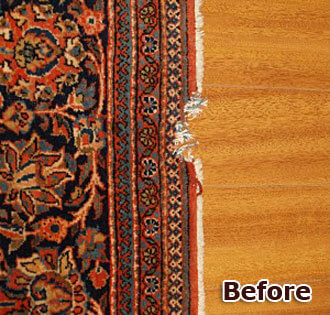 Overcasting - Protect Rug from Unraveling